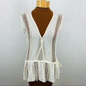 Letarte Luxe Small Ivory Lace Pirate Blouse NEW